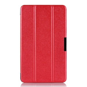 Red Silk Texture Tri-fold Stand Leather Protective Case for Lenovo ThinkPad 8 8.3-inch Windows 8