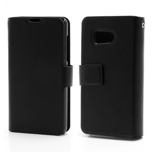 Doormoon Wallet Style Genuine Leather Phone Case for Huawei Ascend Y300 U8833 - Black
