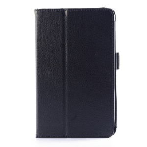 Lychee Texture Folio Stand PU Leather Case for LG G Pad 7.0 V400 - Black