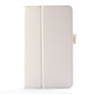 Lychee Texture Folio PU Leather Stand Case for LG G Pad 7.0 V400 - White