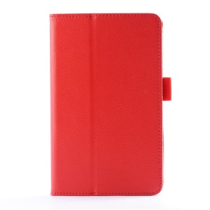 Lychee Texture Folio PU Leather Stand Cover for LG G Pad 7.0 V400 - Red
