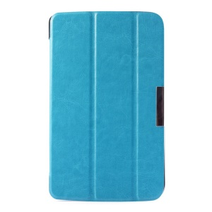 Crazy Horse Tri-fold Stand Leather Case for LG G Pad 7.0 V400 - Baby Blue