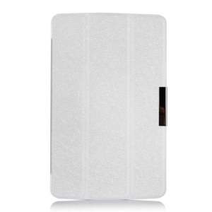 White for LG G Pad 7.0 V400 Silk Texture Tri-fold Leather Stand Cover Case