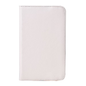 White for LG G Pad 7.0 V400 Rotating Stand Litchi Grain Leather Case