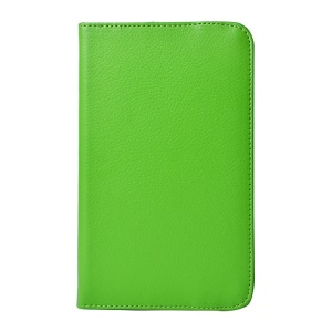 Green Litchi Grain PU Leather Case Rotary Stand for LG G Pad 7.0 V400