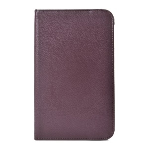 Brown Litchi Grain Leather Flip Case Rotary Stand for LG G Pad 7.0 V400