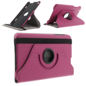Rose Litchi Skin 360 Degree Rotating Stand Leather Cover for LG G Pad 8.3 V500 w/ Elastic Band
