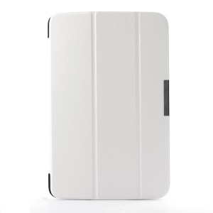 Crazy Horse Pattern Smart Tri-fold Stand Leather Case for LG G Pad 10.1 V700 WiFi - White