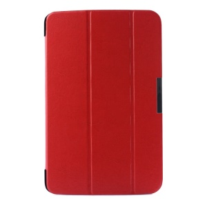 Crazy Horse Pattern Smart Tri-fold Stand Leather Cover for LG G Pad 10.1 V700 WiFi - Red