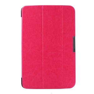 Crazy Horse Pattern Smart Tri-fold Stand Leather Cover for LG G Pad 10.1 V700 WiFi - Rose