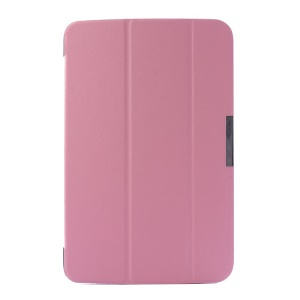 Crazy Horse Pattern for LG G Pad 10.1 V700 WiFi Tri-fold Stand Smart Leather Cover - Pink