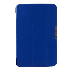 Crazy Horse Pattern for LG G Pad 10.1 V700 WiFi Tri-fold Smart PU Leather Cover - Deep Blue