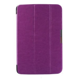 Crazy Horse Pattern for LG G Pad 10.1 V700 WiFi Tri-fold Smart Leather Flip Cover - Purple