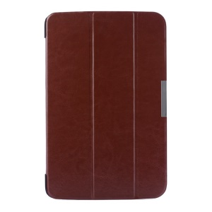 Crazy Horse Pattern for LG G Pad 10.1 V700 WiFi Tri-fold Smart Leather Flip Case - Brown