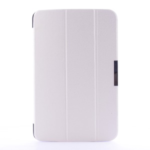 Crackled Texture for LG G Pad 10.1 V700 WiFi Tri-fold Smart Leather Flip Stand Case - White