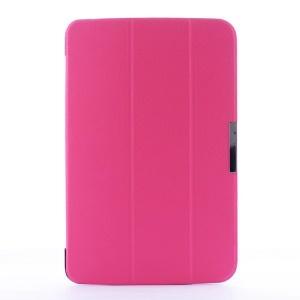 Crackled Texture Tri-fold Smart Leather Flip Stand Cover for LG G Pad 10.1 V700 WiFi - Rose