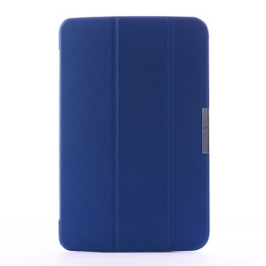 Crackled Texture Tri-fold Smart Flip Leather Cover for LG G Pad 10.1 V700 WiFi - Deep Blue