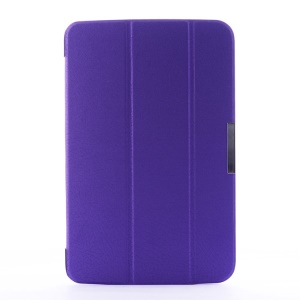 Crackled Texture Tri-fold Stand Smart Leather Cover for LG G Pad 10.1 V700 WiFi - Purple