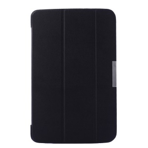 Tri-fold Stand Smart Leather Flip Cover for LG G Pad 10.1 V700 WiFi - Black