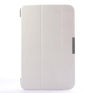 Tri-fold Stand Smart Leather Flip Cover for LG G Pad 10.1 V700 WiFi - White