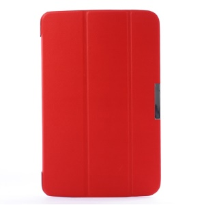 Tri-fold Stand Smart PU Leather Flip Case for LG G Pad 10.1 V700 WiFi - Red