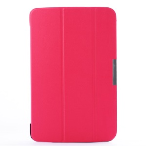 Tri-fold Stand Smart PU Leather Flip Case for LG G Pad 10.1 V700 WiFi - Rose