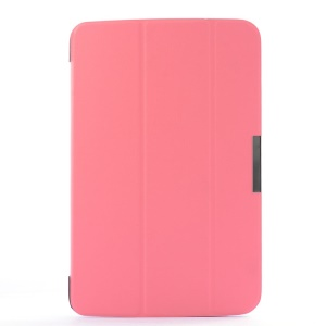 Smart Flip Leather Cover w/ Tri-fold Stand for LG G Pad 10.1 V700 WiFi - Pink