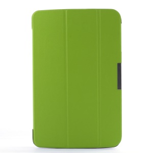 Smart Flip Leather Case w/ Tri-fold Stand for LG G Pad 10.1 V700 WiFi - Green