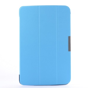 Smart Leather Case w/ Tri-fold Stand for LG G Pad 10.1 V700 WiFi - Sky Blue