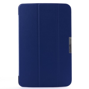 Smart Leather Case for LG G Pad 10.1 V700 WiFi w/ Tri-fold Stand - Navy Blue
