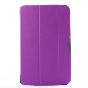 Smart Tri-fold Stand PU Leather Case for LG G Pad 10.1 V700 WiFi - Purple