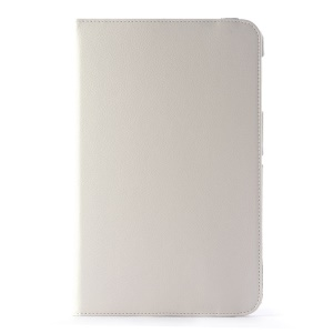 Rotary Stand Lychee Grain Leather Flip Cover for LG G Pad 10.1 V700 WiFi - White