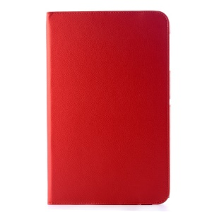 Rotary Stand Lychee Grain Leather Case Cover for LG G Pad 10.1 V700 WiFi - Red