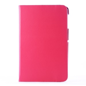Rotary Stand Lychee Grain Leather Case Cover for LG G Pad 10.1 V700 WiFi - Rose