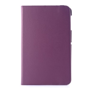 Lychee Grain Leather Case w/ Rotating Stand for LG G Pad 10.1 V700 WiFi - Purple