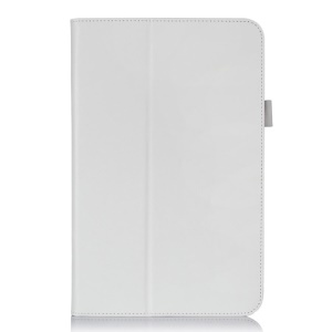 Magnetic Flip Leather Case w/ Elastic Band for LG G Pad 10.1 V700 WiFi - White