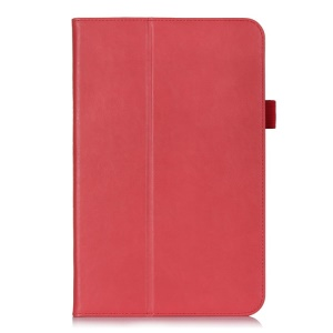 Magnetic Flip Leather Cover w/ Elastic Band for LG G Pad 10.1 V700 WiFi - Red
