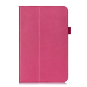 Magnetic Flip Leather Cover w/ Elastic Band for LG G Pad 10.1 V700 WiFi - Rose
