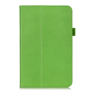 Magnetic Leather Case Cover w/ Elastic Band for LG G Pad 10.1 V700 WiFi - Green
