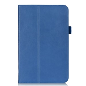 Magnetic Leather Shell Cover w/ Elastic Band for LG G Pad 10.1 V700 WiFi - Blue