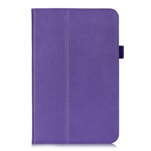 Magnetic PU Leather Cover w/ Elastic Band for LG G Pad 10.1 V700 WiFi - Purple