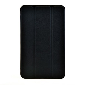 Tri-fold Stand Textured Leather Protective Cover for Dell Venue 7 - Black