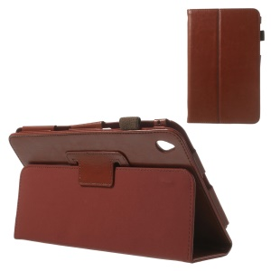 Brown for Acer Iconia W4-820 Crazy Horse Leather Flip Shell with Stand
