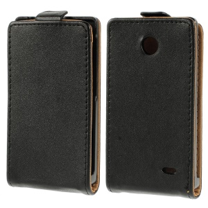 Black Vertical Leather Protective Case for Nokia X A110 Dual SIM / X plus Dual SIM