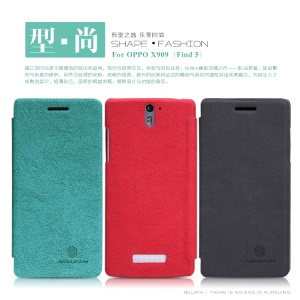 Nillkin Tree-texture Leather Case Cover for OPPO X909 Find 5
