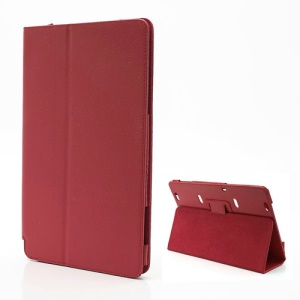 Folio Leather Stand Case Cover for Samsung XE700T1C ATIV Smart PC 11.6-inch Win 8 - Red