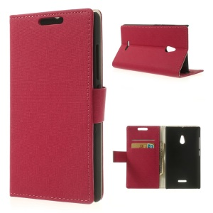 Rose Maze Pattern Wallet Leather Bracket Case for Nokia XL Dual SIM RM-1042 SRM-1030