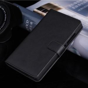 Black Magnetic Leather Card Holder Case for Nokia XL Dual SIM RM-1042 SRM-1030