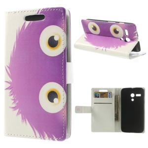 Cute Owl Wallet Leather Stand Case for Motorola Moto G DVX XT1032