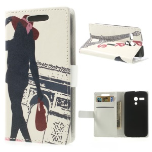 Modern Beauty & Triumphal Arch Magnetic Leather Case Accessory for Motorola Moto G DVX XT1032